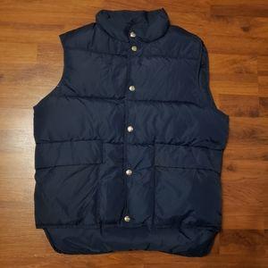 Woolrich Navy Blue Vintage Down Puffer Vest